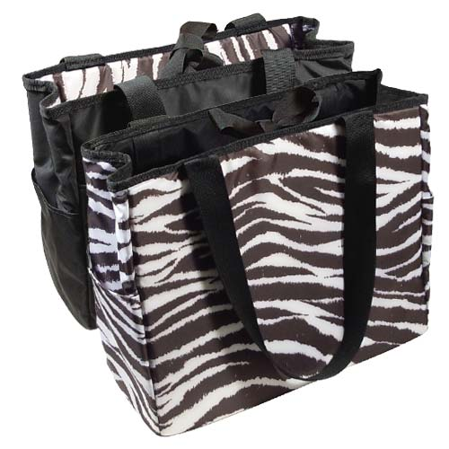 Zebra Reversible Diaper Bag