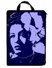 Custom Laptop Bag-Billie Holiday