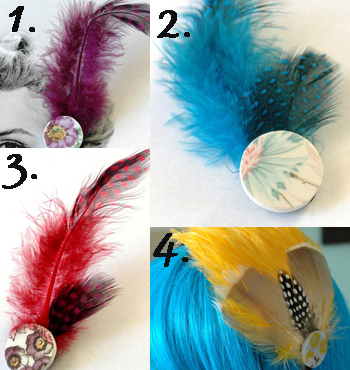 feathers for hair. things for your hair.