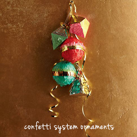 confetti system ornaments west elm