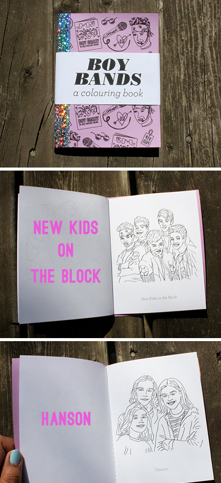 team art boy bands coloring book