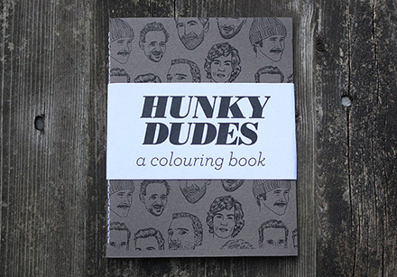 team art hunky dudes coloring book