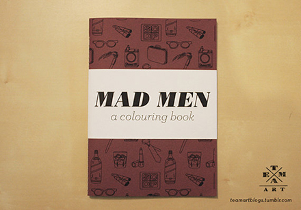 team art mad men coloring book