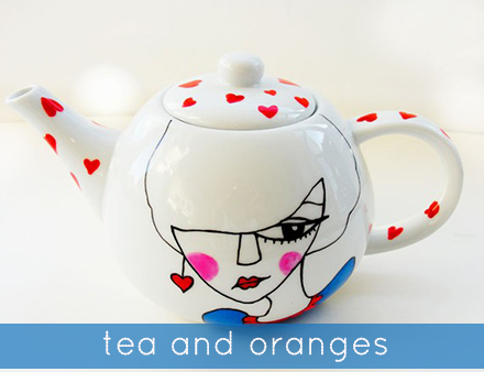 betty raspberry tea and oranges teapot