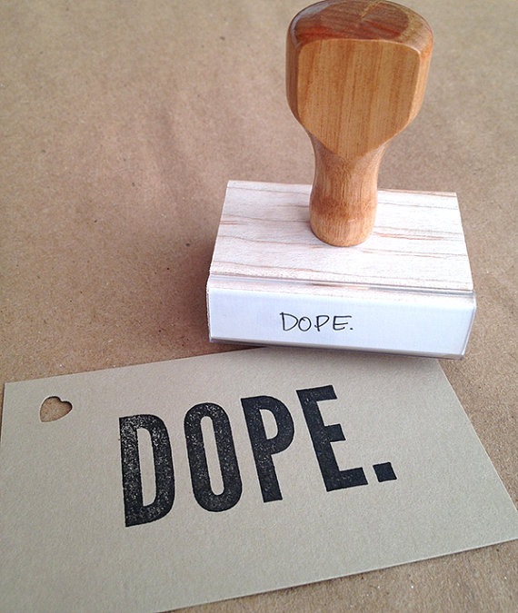 dope rubber stamp by mixed plate