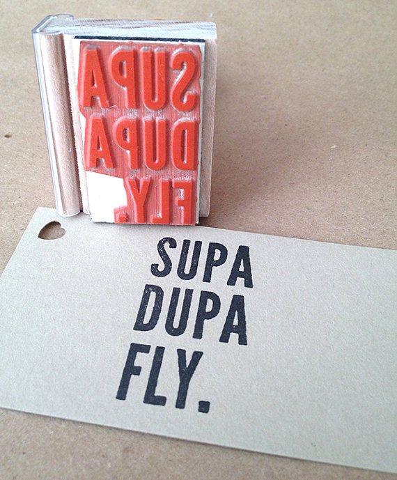 supa dupa fly rubber stamp by mixed plate