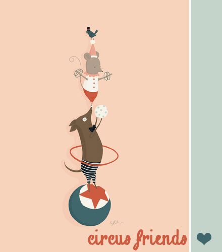 creature comforts circus friends print