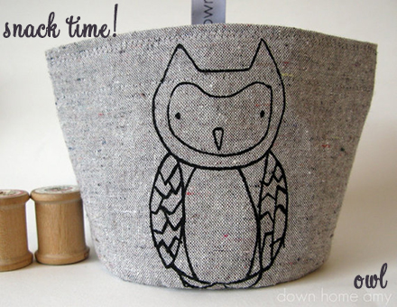 down home amy owl snack pouch