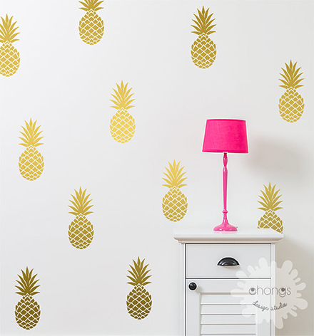 ohongs design studio pineapple wall decals